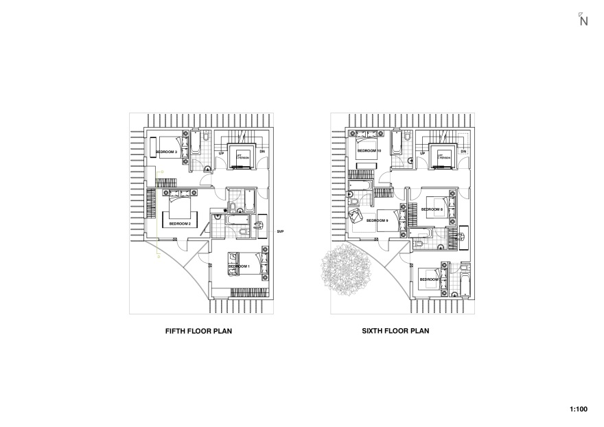 fifth and sixth floor plans